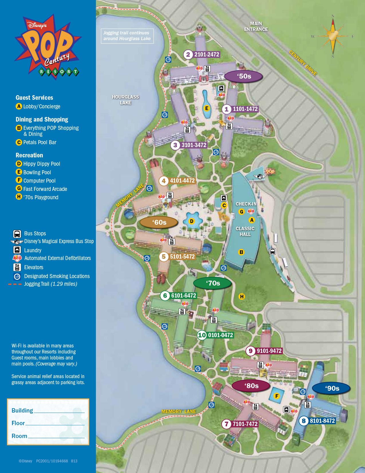 Pop Century Resort Map : century, resort, Century, Resort, KennythePirate.com