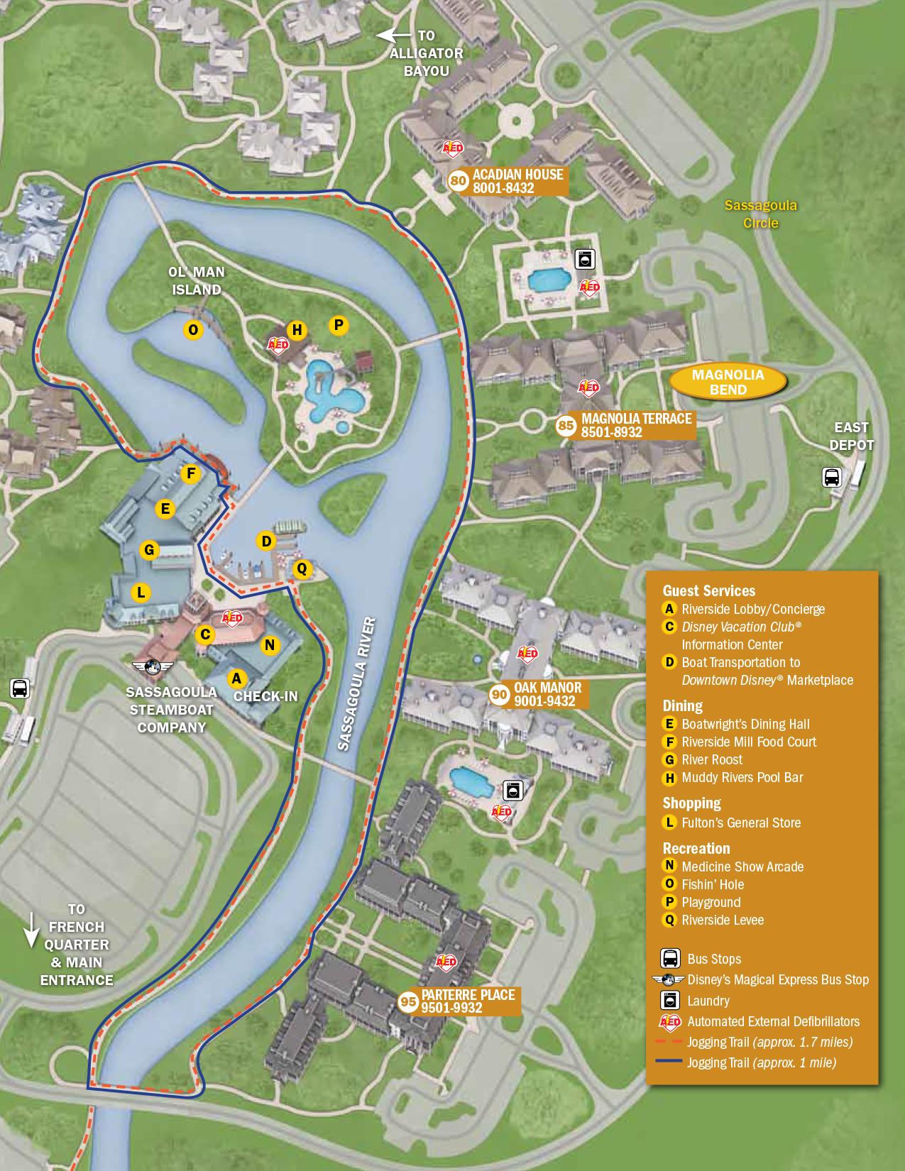 Port Orleans Riverside Resort Map Walt Disney World
