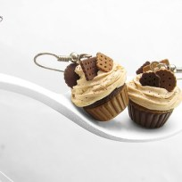 Chocolate Cupcake Earrings © HugsKissesMINI