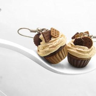 Chocolate Cupcake Earrings © HugsKissesMINI