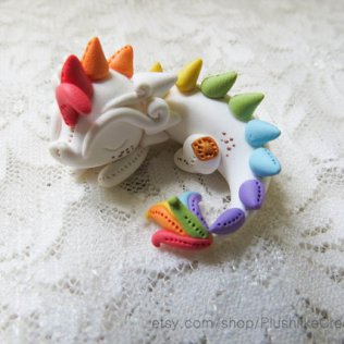 Rainbow dragon © PlushlikeCreatures