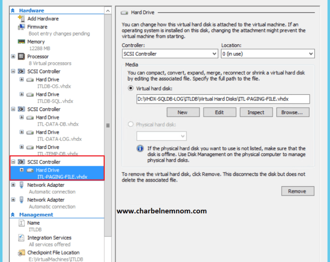 how to set paging file size