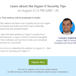 On Demand Webinar: #HyperV Security Tips by MVP Charbel Nemnom and @5nine_Software