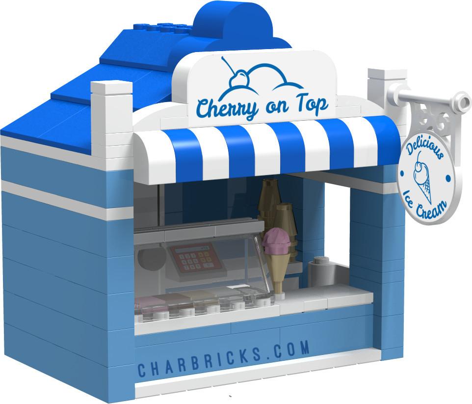 Custom MOC Lego Ice Cream Shop by CharBricks charlotteslego
