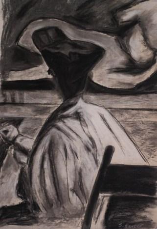 My version of Woman Drawing by Thomas P. Anshutz