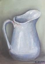 jug pastel and charcoal drawing