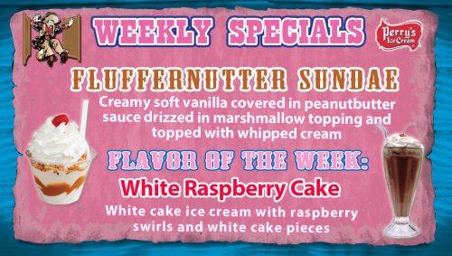 Ice Cream Special: Fluffernutter Sundae - Flavor of the Week: White Raspberry Cake