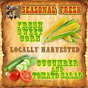 FRESH SWEET CORN - GARDEN FRESH Cucumber and Tomato Salad