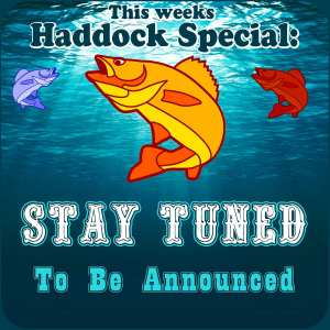 Broiled Haddock Special To Be Announced - FRESH FISH FRIDAY