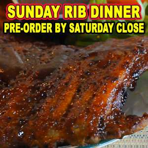 Sunday Rib Special - Pre-order by Saturday close