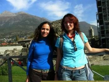 Nosotras en las ruinas romanas