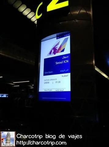 Segundo vuelo, alla vamos Seul