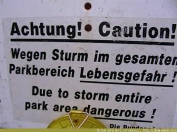 Achtung = Cuidado