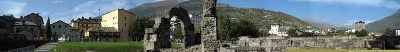 Ruinas romanas en Aosta