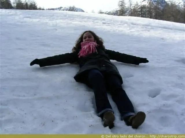 Angelitos en la nieve