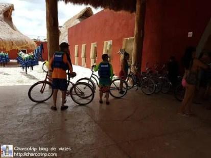 Bicicletas para ir a los cenotes