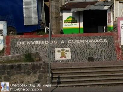 El letrero que nos da la bienvenida a Cuernavaca