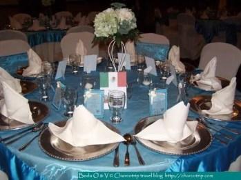 Las mesas estaban decoradas asi (esta era la mesa mexico) / The tables were decored like this one (this was the table Mexico) / Les tables étaient décorées comme ça (cette table était celle du Mexique)