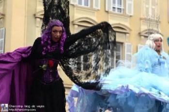 carnaval niza zanquera morada