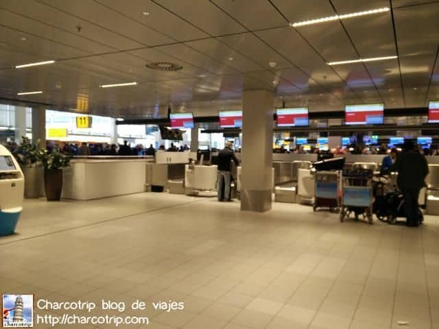 Check in en Schipol