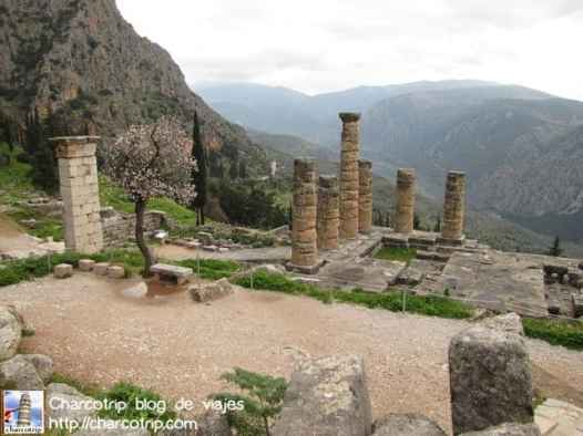 Estas son las columnas que quedan del Templo de Apolo