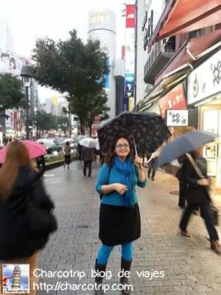 Llovía un poco en Shibuya