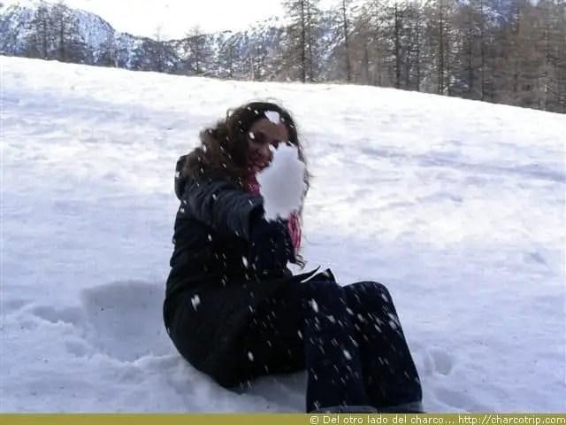 Aventando bolas de nieve