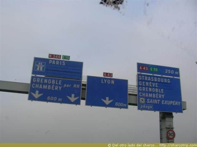 letrero carretera francia
