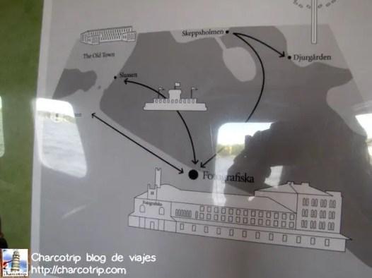 Aquí un mapa de los lugares a los que va el ferry