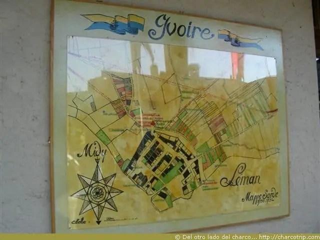 Mapa de Yvoire