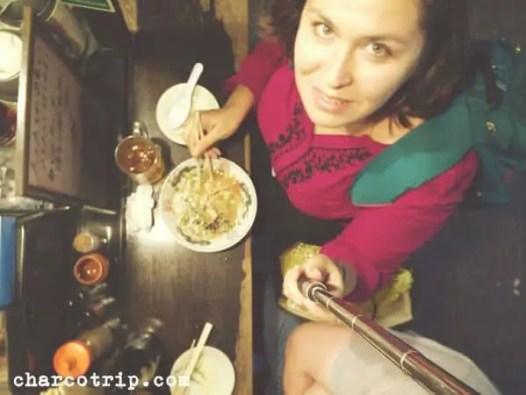 Comida en un Yantai