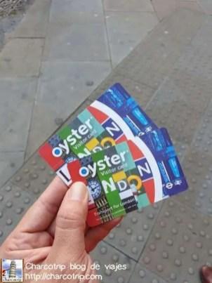 Tarjetas Oyster