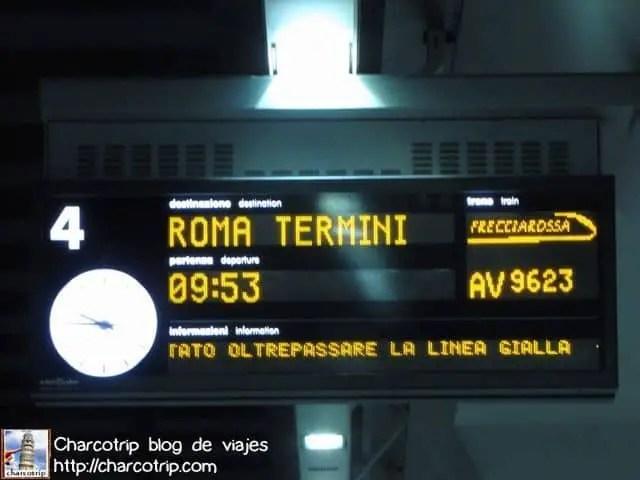 El tren va hasta Roma, pero yo me paraba en Milán.