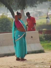 sari-azul-india