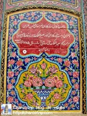 shiraz-mezquita Nasir-al-Molk mosaico