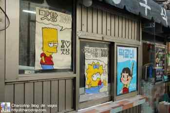 Lis Simpsons en Bukchon VIllage