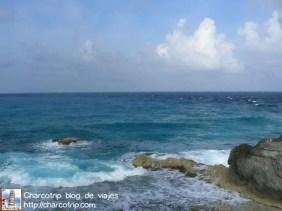 Aguas de la Riviera Maya desde el Templo de la diosa Ixchel