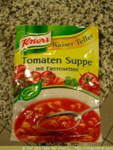 Sopa de tomate, no hubo para mas