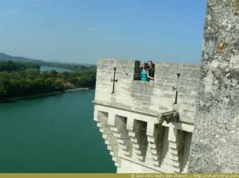 Mi amiga Syndie y yo en la torre