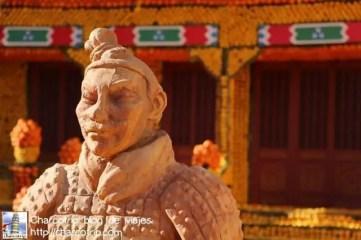 Una representacion de los guerreros de Xian