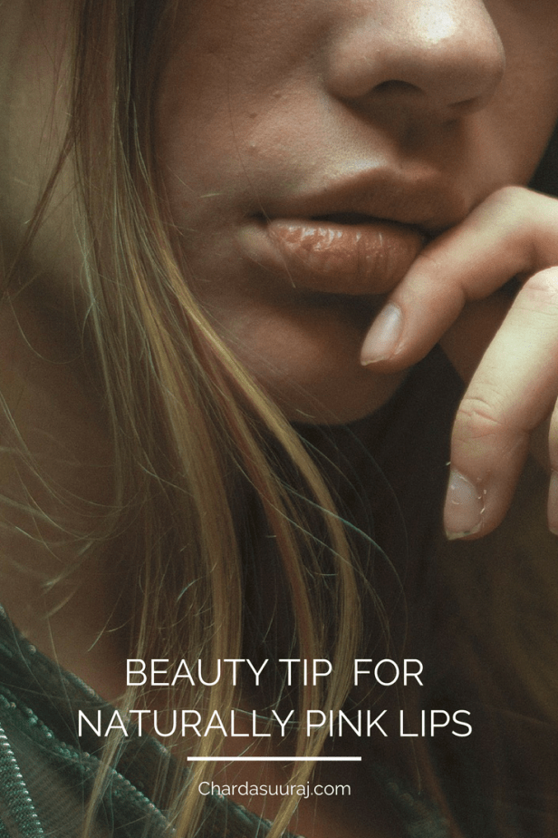 Beauty Tip for Naturally Pink Lips