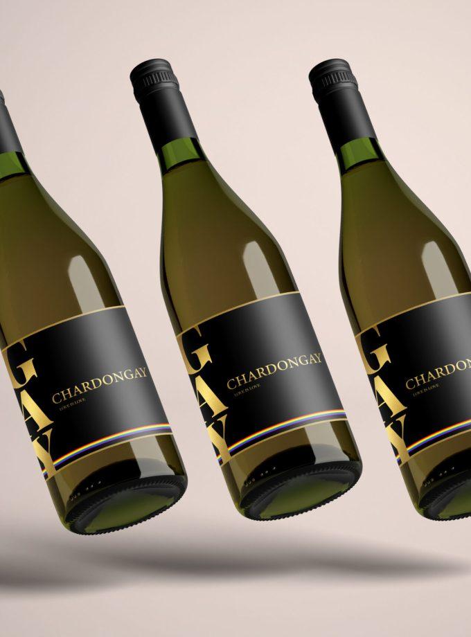 3 flessen Chardongay wijn