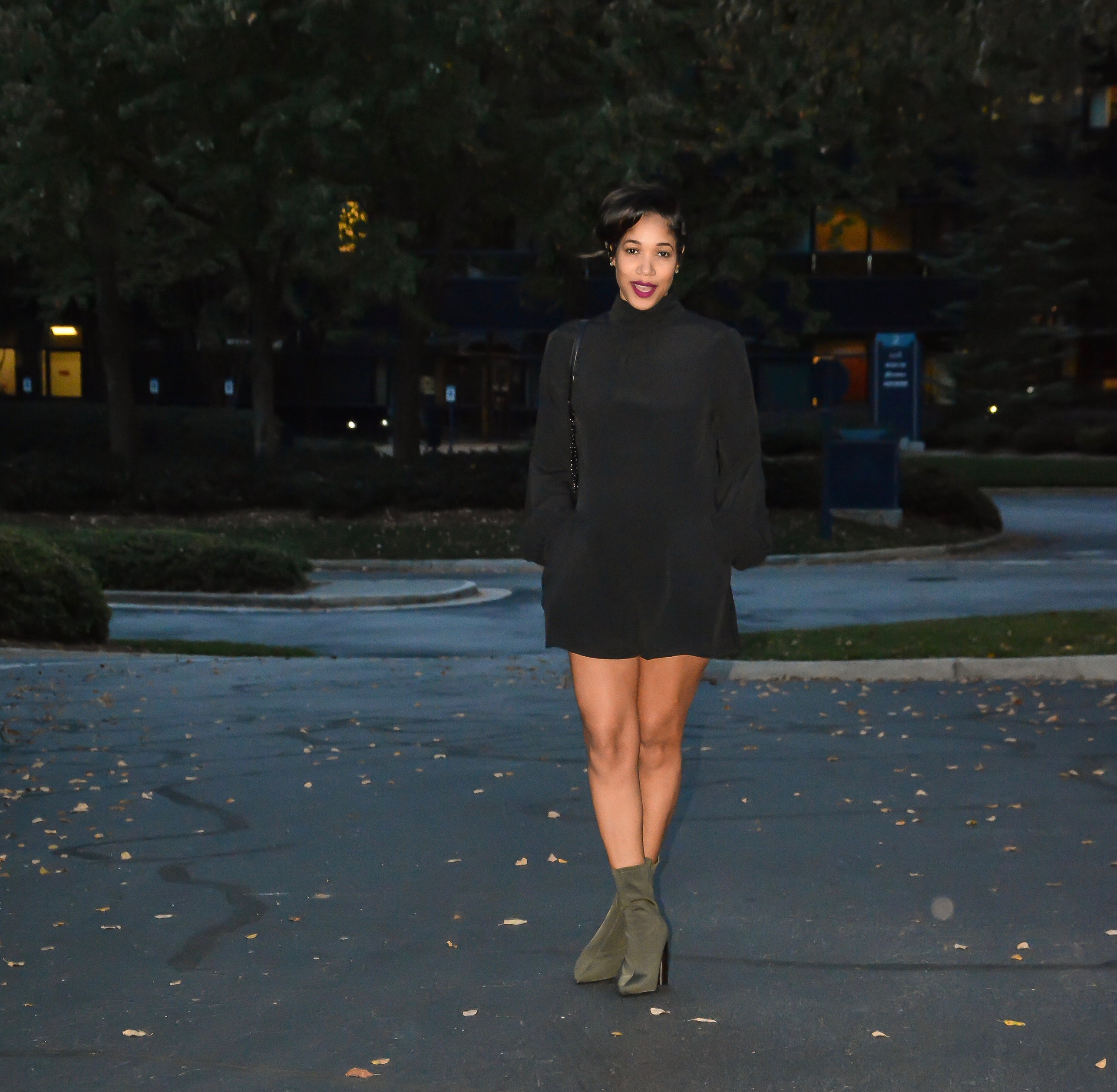 fall romper_ankle booties