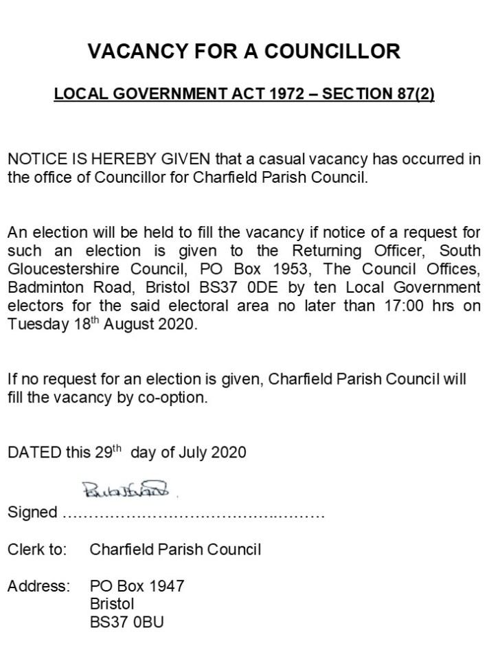 Casual-Vacancy-Charfield-Parish-Council-Notice-29.07.20