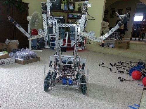 small resolution of this robot employs two forks that lift large balls onto the catapult this catapult has the capabilities of launching 8 9 large balls