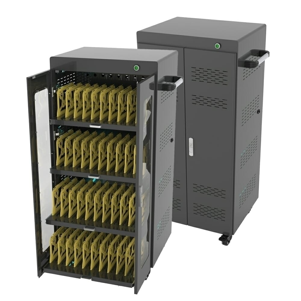 40 Bay UV Charging Cabinet AC  Disinfect Secure Storage