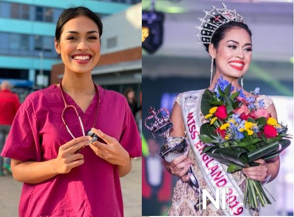 #TrendingNow: Miss England 2019, hangs up her crown to return to work as a doctor during Coronavirus pandemic