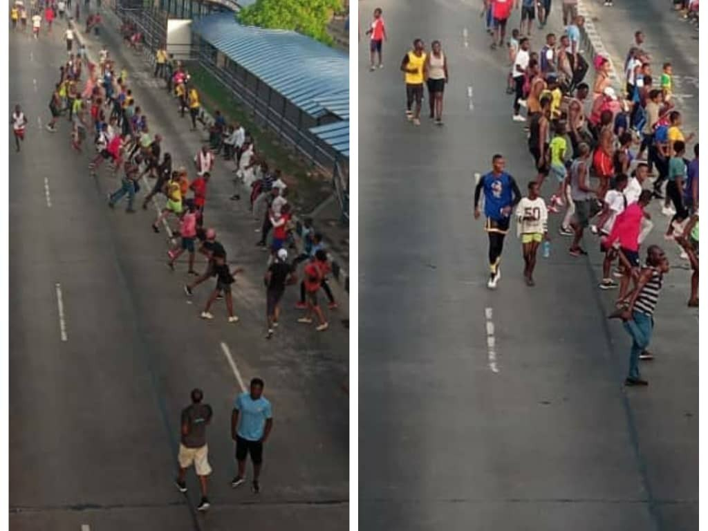 Lockdown na Scam: Lagos and Abuja residents defy lockdown order, troop out en-mass to exercise, drive around (photos/video)
