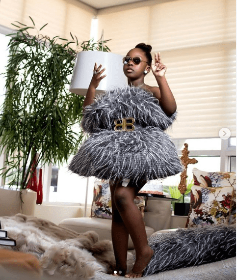 See Timaya's first daughter looking all grown and stylish, as she celebrates her 8th..