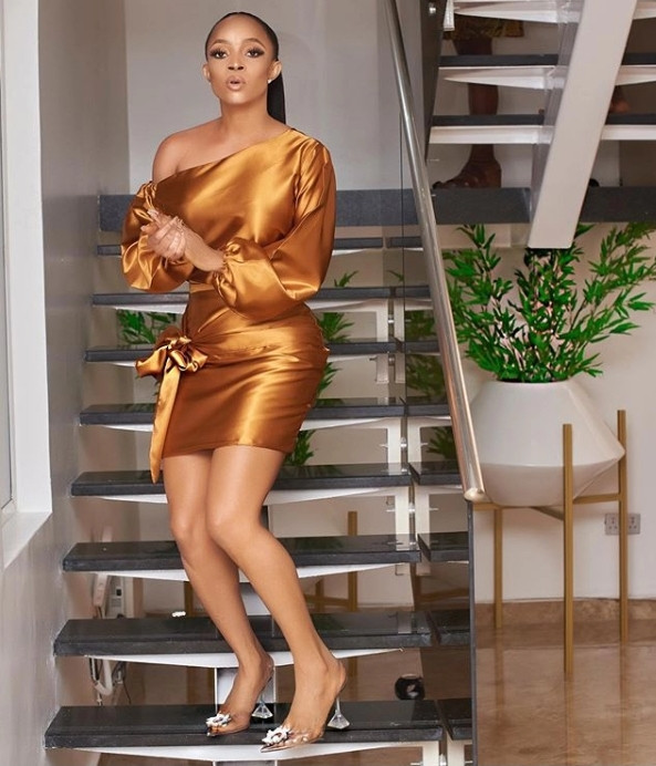 """Toke Makinwa: """"The TV/Radio star has denied reports her Ikoyi home has been taken over by AMCON""""."""